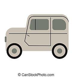 grigio, bianco, illustrazione, automobile, appartamento