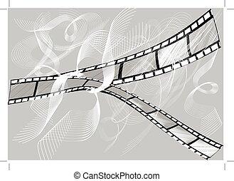 grigio, film, due, fondo, pezzi