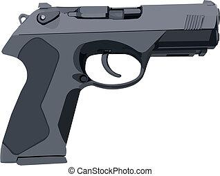 grigio, fucile, standard