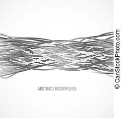 grigio, linee orizzontali, fondo, absract