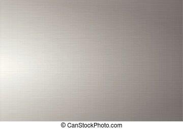 grigio, lucidato, spazzolato, luce, metallo, metallico, fondo, baluginante, texture.