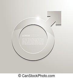 grigio, mascolinità, metallo, fondo., segno