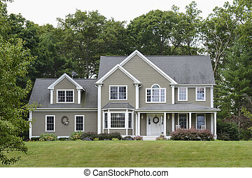 grigio, moderno, casa