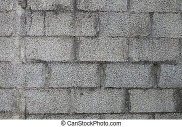 grigio, muro di mattoni
