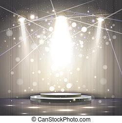 grigio, palcoscenico
