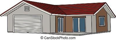 grigio, piccola casa