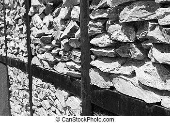 grigio, pietra, fondale, fondo
