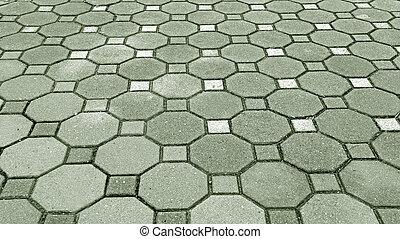 grigio, pietra, mattone, strada, fondo.
