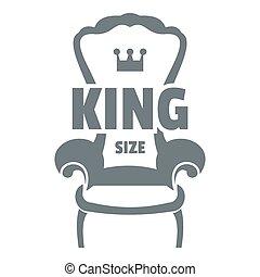 grigio, stile, semplice, poltrona, reale, logotipo