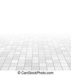 grigio, tegole, astratto, bagno, floor., vettore, prospettiva, fondo, bianco, grid., marmo, rettangolo