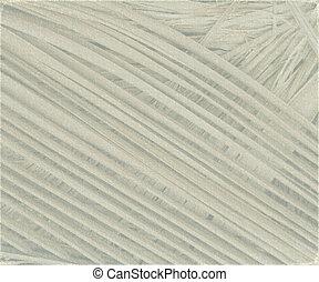 grigio, textured, noce di cocco, foglia, fondo, con, luce, grunge, cornice