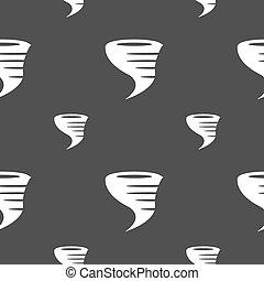 grigio, tornado, modello, seamless, fondo., vettore, icon.
