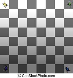 grigio, uggia, illusione ottica, scala