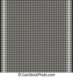 griglia, altoparlante, alluminio, struttura