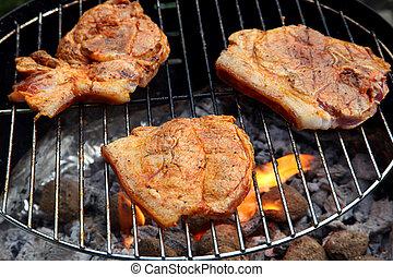 griglia, barbecue