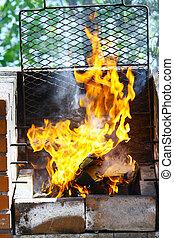 griglia, fiamma