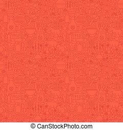 griglia, linea, seamless, rosso, modello