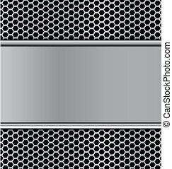 griglia, metallo, struttura, altoparlante, t, carbonio,...