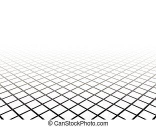 griglia, prospettiva, surface.