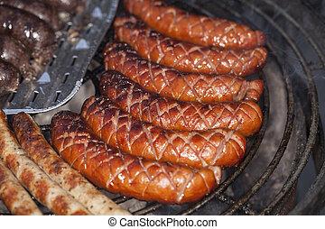 griglia, salsiccia