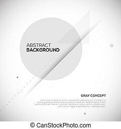 grijs, abstract, achtergrond., ontwerp, geometrisch, 3d