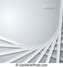 grijs, abstract, linten, achtergrond
