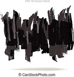 grijs, abstract, verf