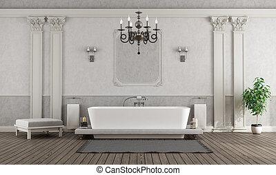 grijs, badkamer, witte , luxehuis