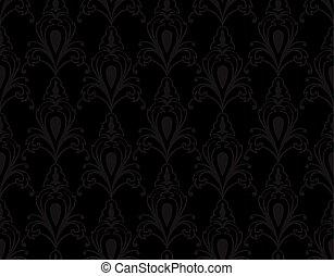 grijs, classieke, pattern., black