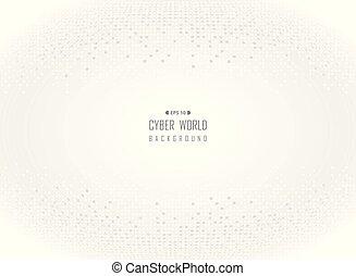grijs, cyber, achtergrond., digitale wereld, witte