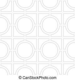 grijs, eenvoudig, model, -, overzichten, vector, achtergrond, seampess, witte , geometrisch
