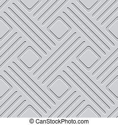 grijs, embossed, lijnen, en, pleinen, seamless