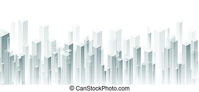 grijs, geometrisch, 3d, perspectief, achtergrond.