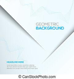 grijs, geometrisch, achtergrond, 3d