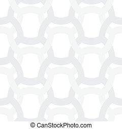 grijs, grides, eenvoudig, model, abstract, -, vector, achtergrond, ineengestrengelde, witte , geometrisch