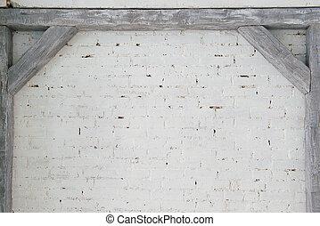 Geverfde houten witte muur balk geverfde abstract textuur