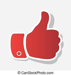 grijs, illustration., roodachtig, licht, buiten, meldingsbord, achtergrond., slag, vector., jaar, nieuw, schaduw, hand, pictogram