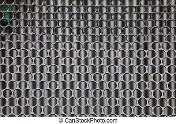 grijs, industriebedrijven, metaal, achtergrond, textuur