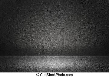 grijs, kamer, achtergrond