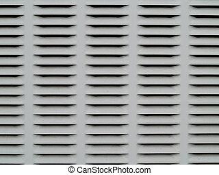 grijs, metaal, ventilatie, zwarte achtergrond, raspen