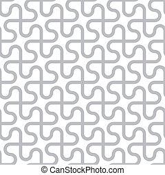 grijs, model, abstract, -, seamless, vector, achtergrond, gebogen, witte lijnen