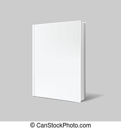 grijs, op, dekking, boek, achtergrond, leeg