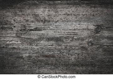 grijs, oud, hout, achtergrond, textuur