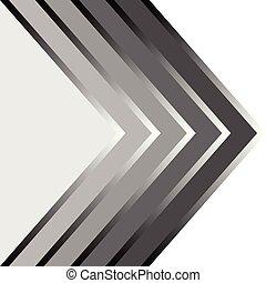 grijs, rechts, model, abstract, of, punten, zwarte pijl, next.