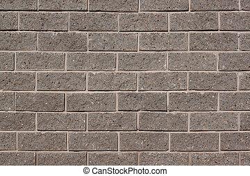 grijs, ruimte, fragment, woning, text., wall., baksteen, kopie, jouw