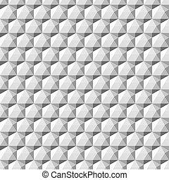 grijs, seamless., -, gedaantes, geometrisch, 3d