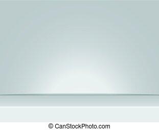 grijs, stralen, kamer, licht, vector, studio, achtergrond