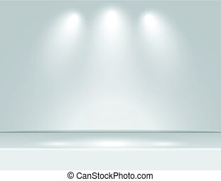 grijs, stralen, kamer, licht, vector, studio, achtergrond, schijnwerper