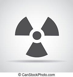 grijs, straling, illustratie, achtergrond., vector, schaduw, pictogram