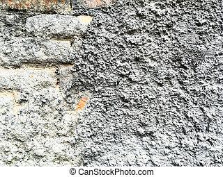 grijs, stucco, texture.